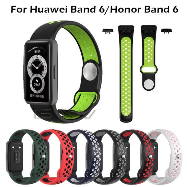 Dây Đeo Thể Thao Bằng Silicon Thoáng Khí Cho Huawei Band 6 Dây Đeo Cổ Tay Thay Thế Cho Đồng Hồ Thông Minh Honor Band 6 Huawei Fit