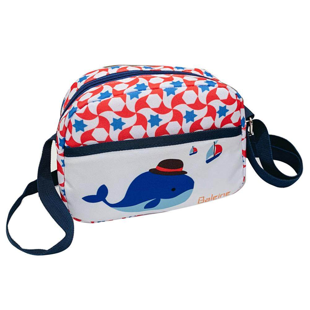 Fashionhead  Children Girl Fox Whale Elephant Pattern Oxford Fabric Crossbody Shoulder Bag