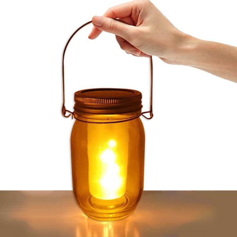 Bình Năng Lượng Mặt Trời Đèn Treo Cảm Ứng Tự Động Ngọn Lửa Lập Lòe Đèn Lồng Cho Sân Vườn Trang Trí
