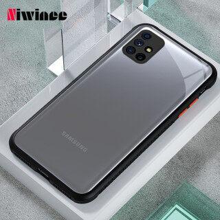 NIWINEE Cho Samsung Galaxy M51 Ống Kính Chống Rơi Vỏ Bảo Vệ Máy Ảnh Chống Trượt Trong Suốt Màu Trắng Tất Cả Trong Một Ốp Mica Nam Nữ Mờ Đơn Giản thumbnail