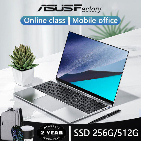 [Malaysian stock] New original for laptop office use 15.6-inch 8G 12G RAM 1TB 512GB 256GB 128GB SSD ROM with full-size keyboard 1920*1080 screen laptop window 10 suitable for students murah Malaysia