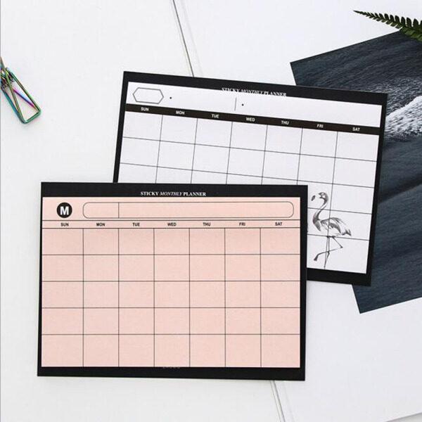 Mua Văn Phòng Phẩm Đơn Giản Flamingo Creative Planner Máy Tính Xách Tay Hàng Tháng Ghi Nhớ Lịch Trình