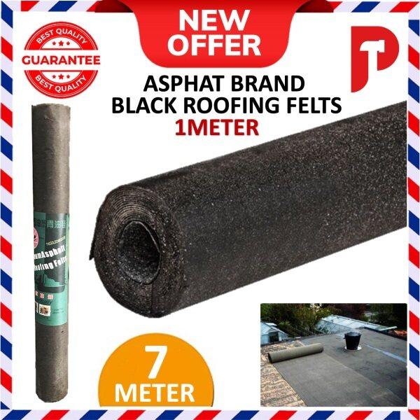 ASPHALT Tarred Waterproof Black Roofing Felst Sheet Roll (1METER x 7METER)