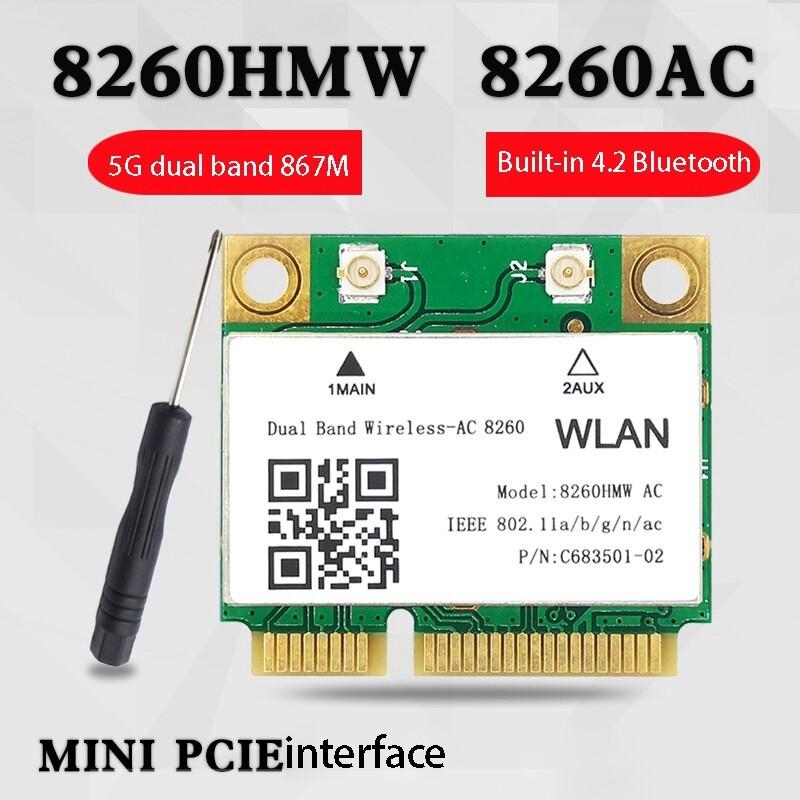 1200mbps การ์ดเน็ตเวิร์ก8260hmw Ac 2.4g + 5g Mini การ์ด Pci-E 4.2บลูทูธการ์ด Wifi 802.11ac 867mbps สำหรับแล็ปท็อป/คอมพิวเตอร์.