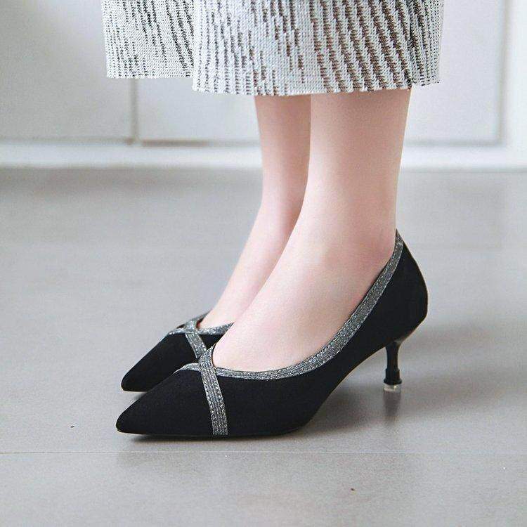 8bff5c6c Stiletto High Heel Women's Shoes 2019 Spring New Shallow Mouth Low Shoes  Fashion Pointed Single Shoes