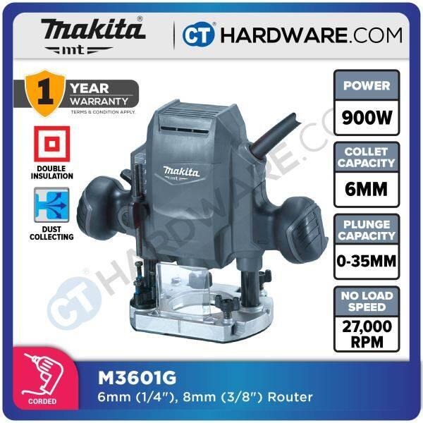 MAKITA MT M3601G ROUTER 3/8 8MM 900W 27,000RPM