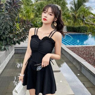 Đồ Bơi Áo Tắm Ins Hàn Quốc Một Mảnh Ngực Nhỏ Gợi Cảm Mới 2021 Che Bụng Mỏng Kín Đáo Mùa Hè Cho Nữ thumbnail