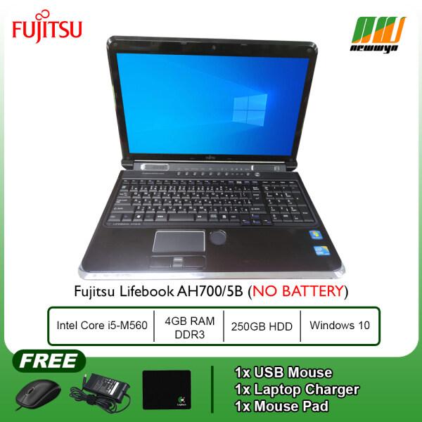 (Refurbished Notebook) Fujitsu Lifebook AH700/5B / Intel Core i5-M560 @ 2.67GHz / 250GB HDD / 4GB RAM / Windows 7 Pro (No Battery) Malaysia