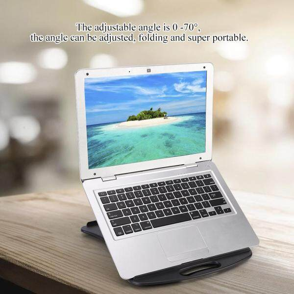 [salmopho+Ready Stock]Laptop Stand Portable Adjustable Multi-Functional Laptop Cooling Stand Holder with Cooling Fan Singapore