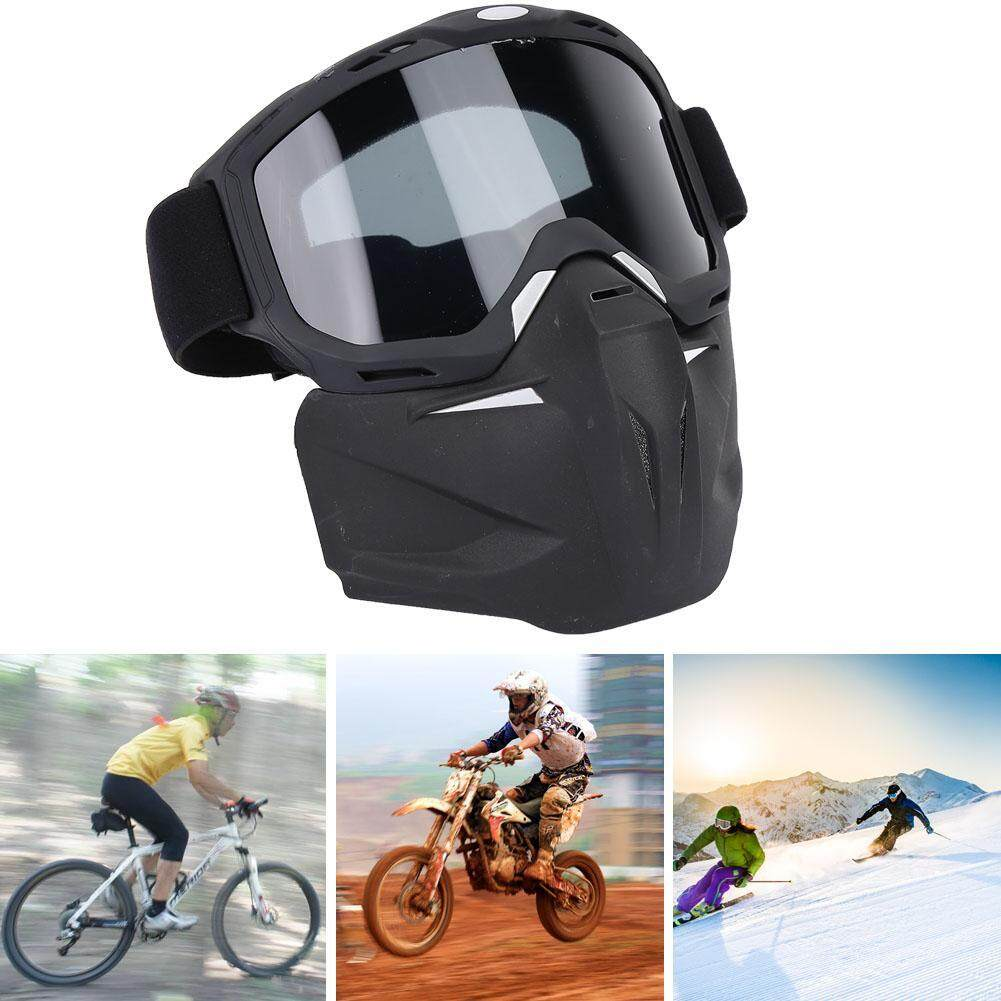 joliannh【New】Outdoor Sport Removable Mask Windproof Sunglasses Cycling Riding Motocross Goggles