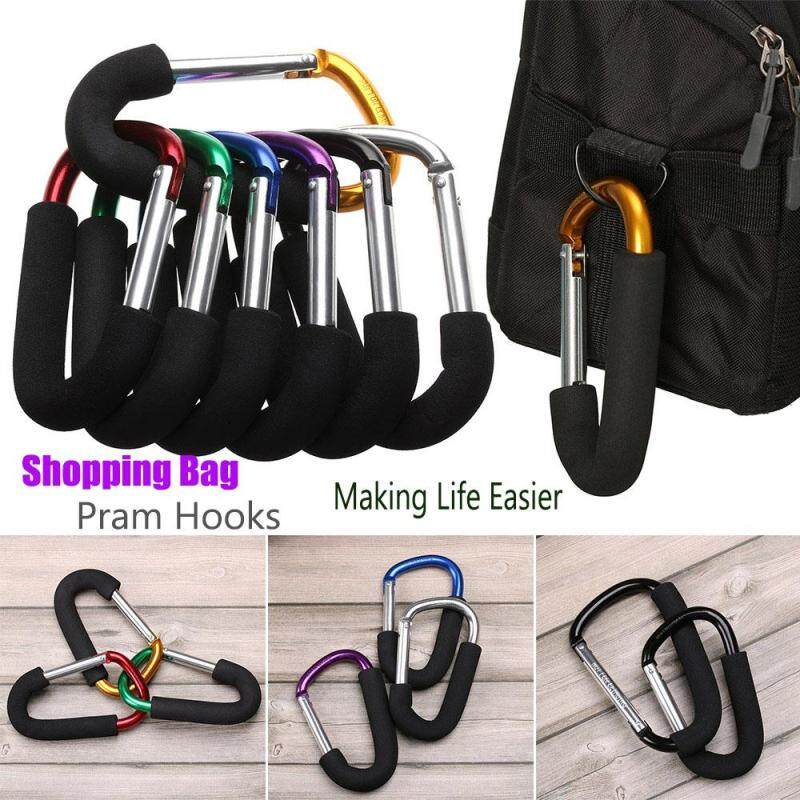 1* Multicolor Buggy Pram Hanger Metal Baby Activity Baby Stroller Clips Large Hand Carry Shopping Bag Hooks Pushchair Holder Singapore
