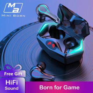 MiniBorn Tai Nghe Bluetooth Gaming Chơi Game Tai Nghe Nhét Tai Không Dây Tai Nghe Chơi Game Tai Nghe Bass Rảnh Tay Cho Điện Thoại Di Động Kèm Micro thumbnail
