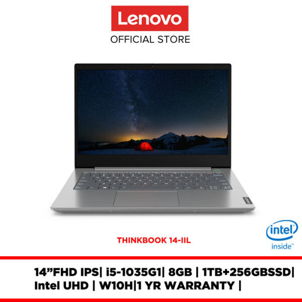 Lenovo Notebook Laptop ThinkBook 14-IIL Mineral Grey 20SL004MMJ 14FHDIPS/8GB/I5/1TB+256GBSSD/INTEL UHD/W10H/1YRWRTY Malaysia