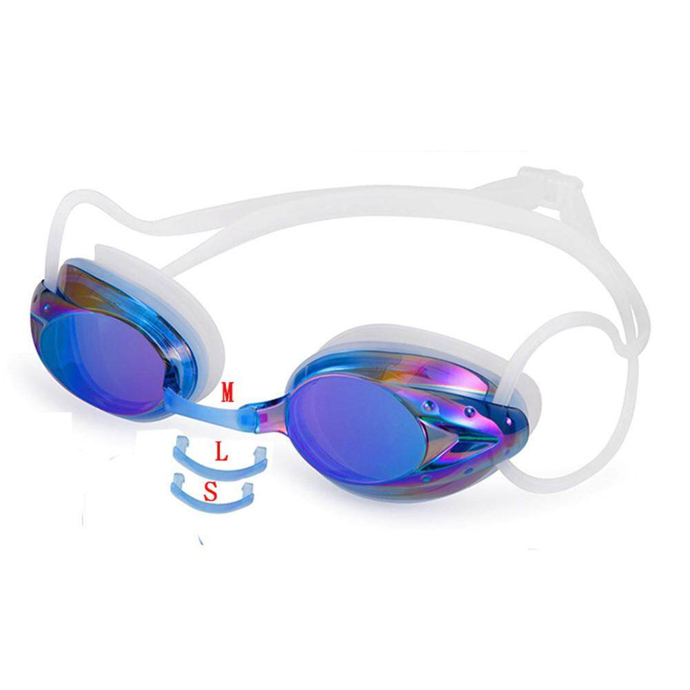 Waterproof and Anti-fog Colorful Plating Swimming Goggles
