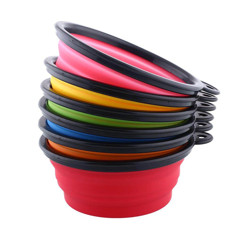 Clearance Sale 1x Silicone Collapsible Selling Pet Cat Feeding Water Dish Feeding Bowl By Aukey Store.