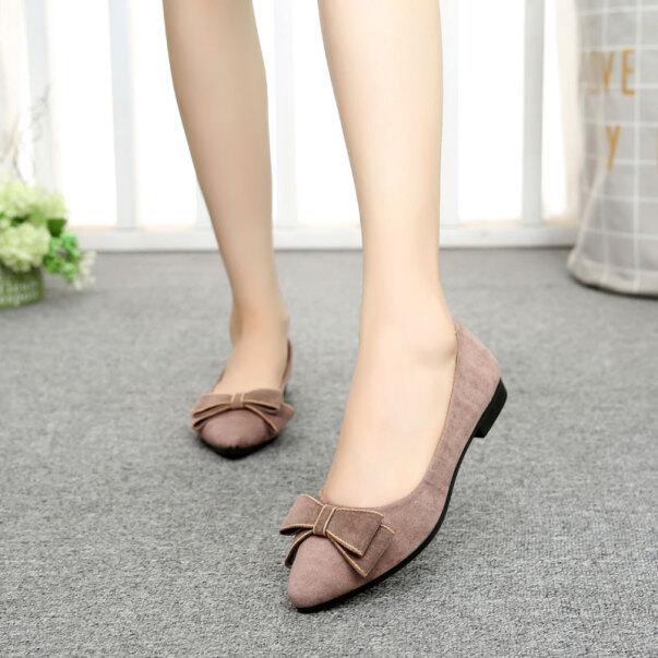 Giày Vải Bắc Kinh Cổ Giày Đế Bằng Muôi Thời Trang Mới 2020 Cho Nữ Làm Việc Giày Mềm Mại Dưới Doug Duy Nhất Làm Việc Không Bàn Chân Mệt Mỏi giá rẻ