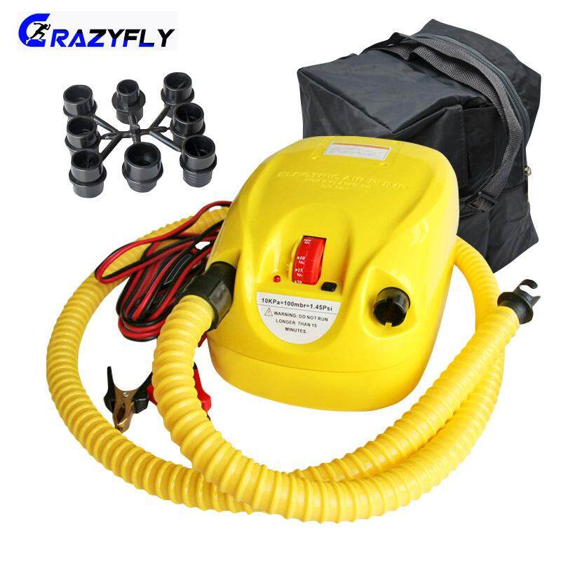 Crazyfly Durable High Pressure Dc 12v Electric Airpump For Inflatable Boat Dinghy Raft Supsurf Board Stand Up Paddle By Crazyfly.