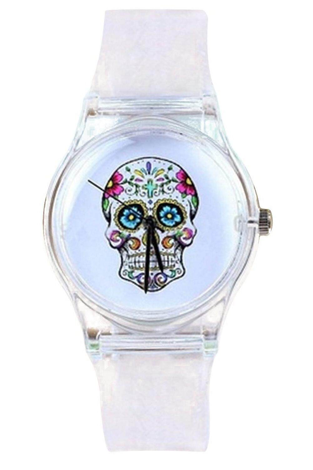 Skull Dial Transparent Silicone Wrist Watch Malaysia