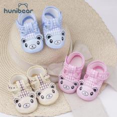 【Hunibear】Baby Giày Dễ Thương Phim Hoạt Hình Bông Mềm Sơ Sinh Bé Cậu Bé Cô Gái Thở Giày 0-3 Năm