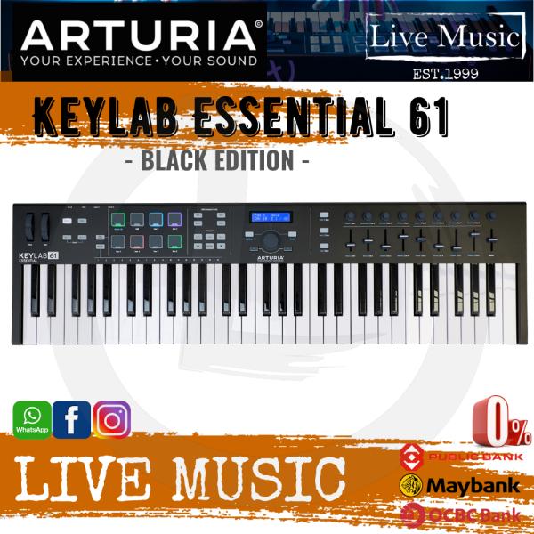 Arturia KeyLab Essential 61 Keyboard Controller - Black (Essential61/Essential-61) Malaysia