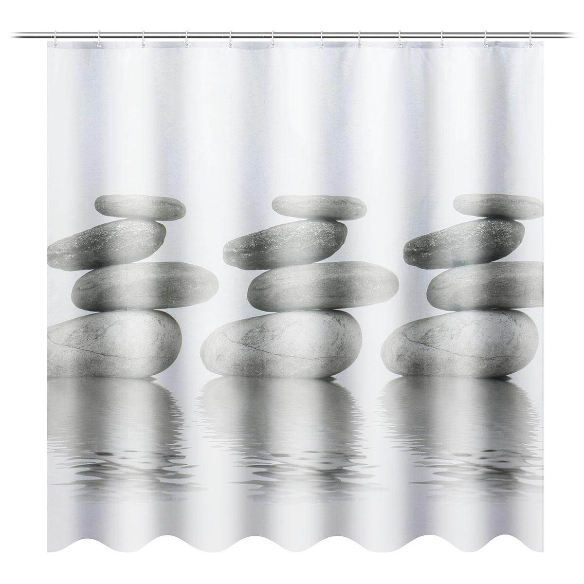 180x180cm Waterproof Cobble Shower Curtain Digital Art Bathroom With 12pcs Hooks By Freebang.