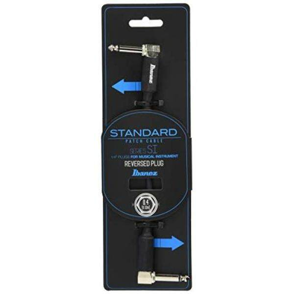 Ibanez Ibanez Standard Guitar/Bass Patch Cable 0.4ft (0.12m) L-Shaped to Reverse L-Shaped Plug SI04PR Malaysia
