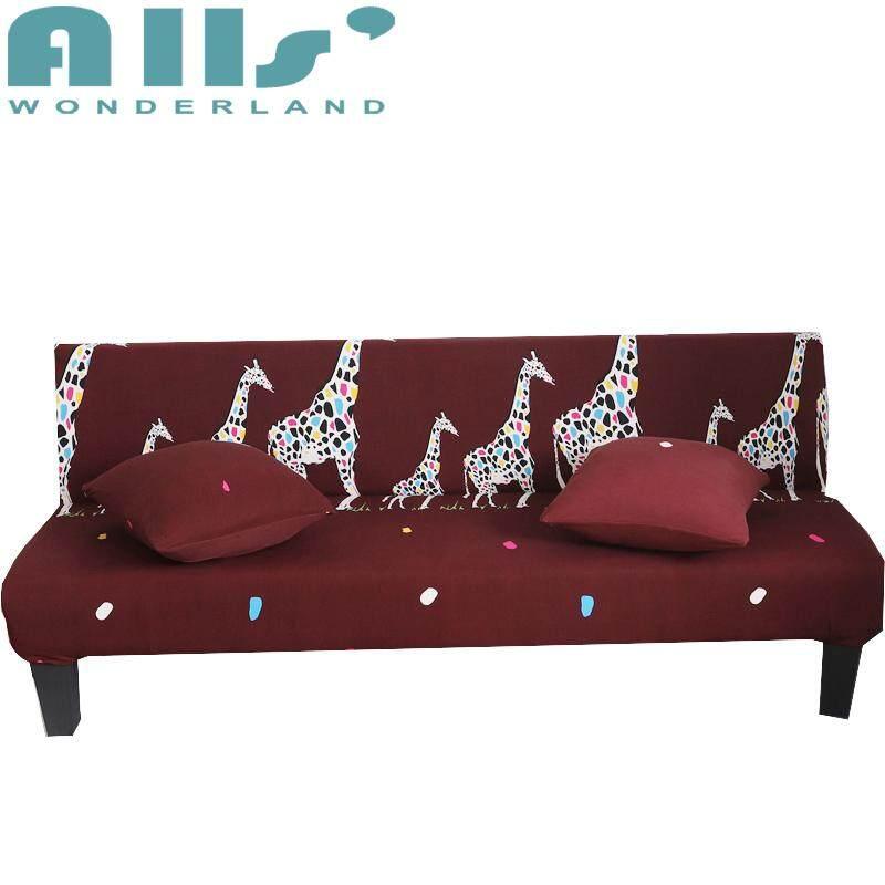 【 Kasur Sofa Cover】1pc Pola Kartun Sofa Santai Tempat Tidur Sarung Ada Sandaran Tangan Elastis Sarung Sofa (Rentang Panjang untuk 160-190 Cm /64.9-76.7 '')