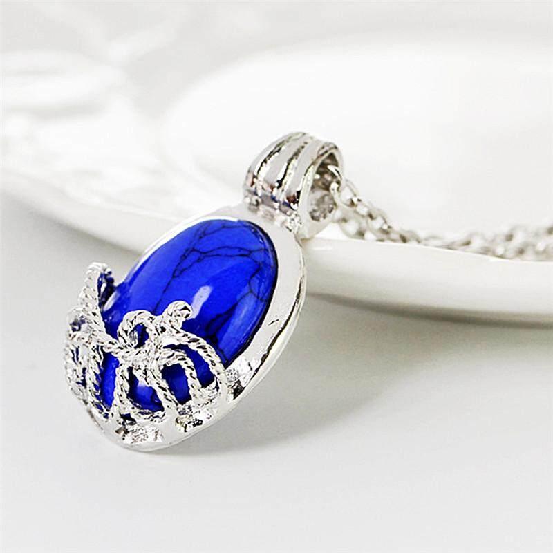 Film The Vampire Diaries Katherine Fashion Anti-sunlight Lapis Lazuli Pendant Necklace