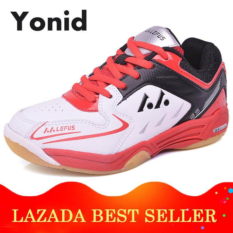 Yonid Size 31-35 Children Badminton Shoes Tennis Shoes For Kids Boys And Girls Sneakers Indoor Sport Shoes.