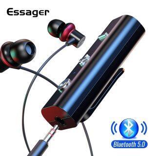 Bộ thu Essager Bluetooth 5.0 cho Jack 35mm Tai nghe Bộ chuyển đổi không dây Bluetooth Bộ phát âm thanh âm thanh dành cho tai nghe thumbnail