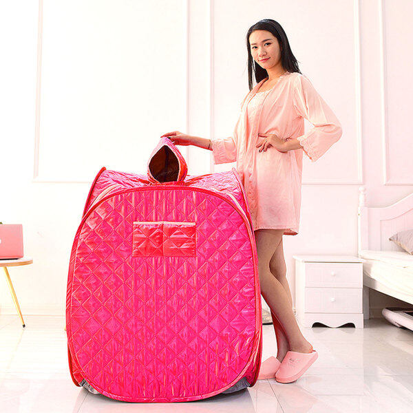 Buy 【Duha】Portable Folding One Person Steam Sauna SPA Room Tent Box without Steamer for Weight Loss Full Body Slimming Relaxation Red Singapore