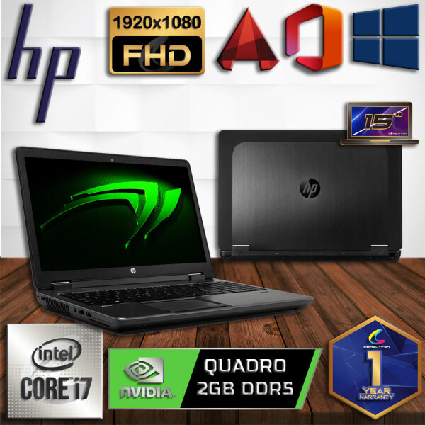HP Z-BOOK 15  WORKSTATION - INTEL CORE I7-4710MQ / 32GB DDR3 RAM / 1TB HDD + 256GB SSD / 2GB DDR5 NVIDIA QUADRO K1100M / FULL HD / WINDOW 10 PRO [ 1 YEAR WARRANTY ] [ LAPTOP ] Malaysia