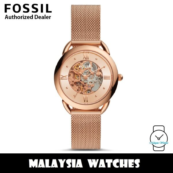 (OFFICIAL WARRANTY) Fossil ME3165 Tailor Mechanical Automatic Rose Gold-Tone Mesh Bracelet Womens Watch (2 Years Fossil Warranty) Malaysia