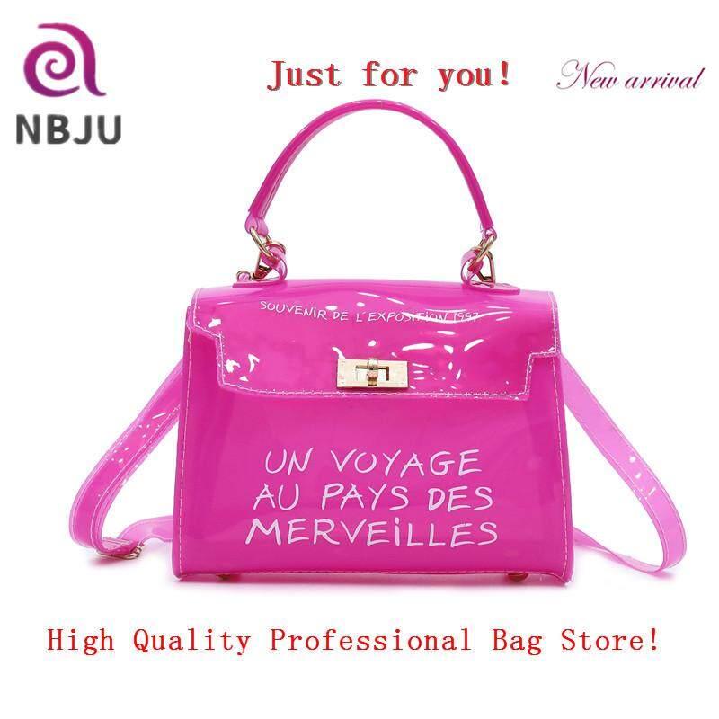 4f17c1dbd34 NBJU Ladies Pure Colorful Clear Transparent PVC versatile Small Shoulder  Bags Women Fashion Candy Color Jelly Handbag Female Messenger Bag High ...