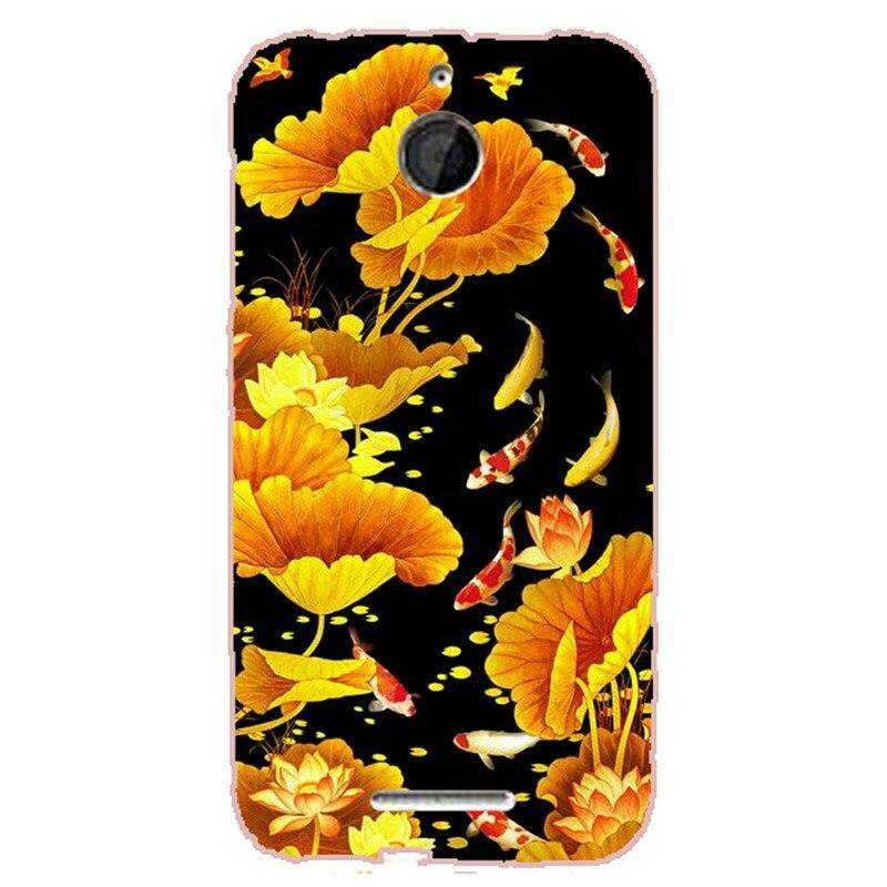 Hard Plastic Phone Cases For Htc Desire 510 Hard Plastic Material Phone Case Back Cover Coque Print Painting Flower Style.