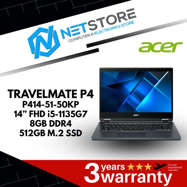 "ACER TRAVELMATE SPIN P4 P414-51-50KP 14"" | 8GB RAM DDR4 | 512GB M.2 PCIE NVME - NX.VP5SM.001 Malaysia"