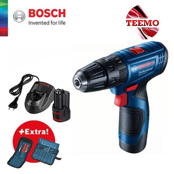 TEEMO BOSCH GSB 120-LI Gen 2 Cordless Impact Drill Kit + Extra 23pcs Accessories - 06019G81L1 - Fulfilled by TEEMO SHOP
