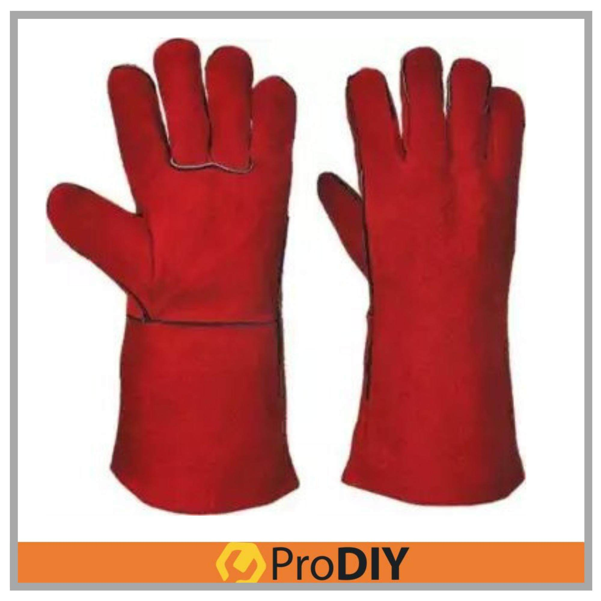 1 Pair of 13 Welding Cow Skin Leather Hand Glove