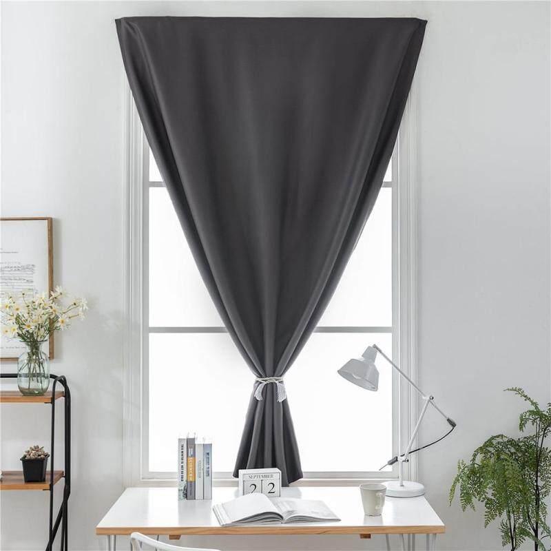 Rèm Tự Dính Màu Xám Cửa Sổ Màn Rèm Cửa Cho Phòng Tắm Màu