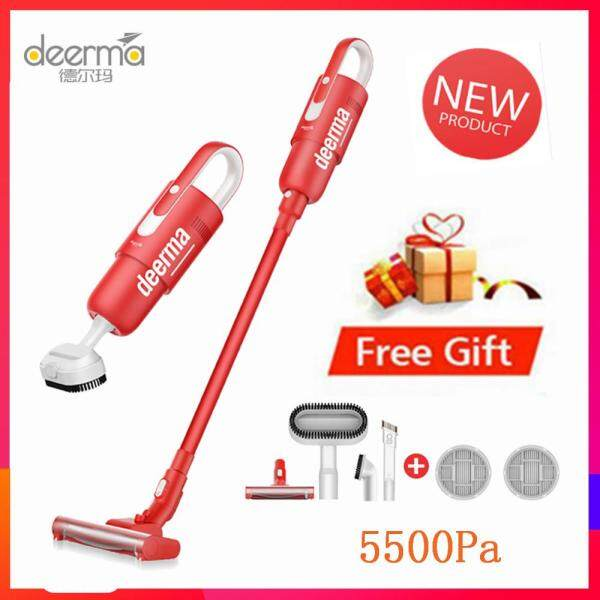 100% Original Deerma DEM - VC21 Lightweight Vacuum Cleaners 5500Pa Household Small Handheld Wireless Vacuum Cleaner for home use Singapore