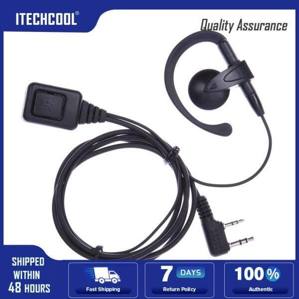2 Pin PTT Mic Earpiece Headset for Baofeng Kenwood Puxing Wouxun Radio Singapore