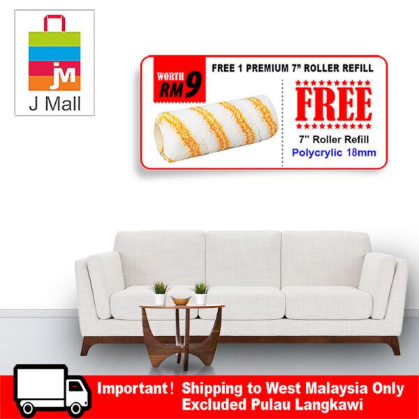 Apple Paint Interior Ecoplus White AP 8102 - 7L [ + Free Gift 1pc 7 Mcpro Roller Refill ]