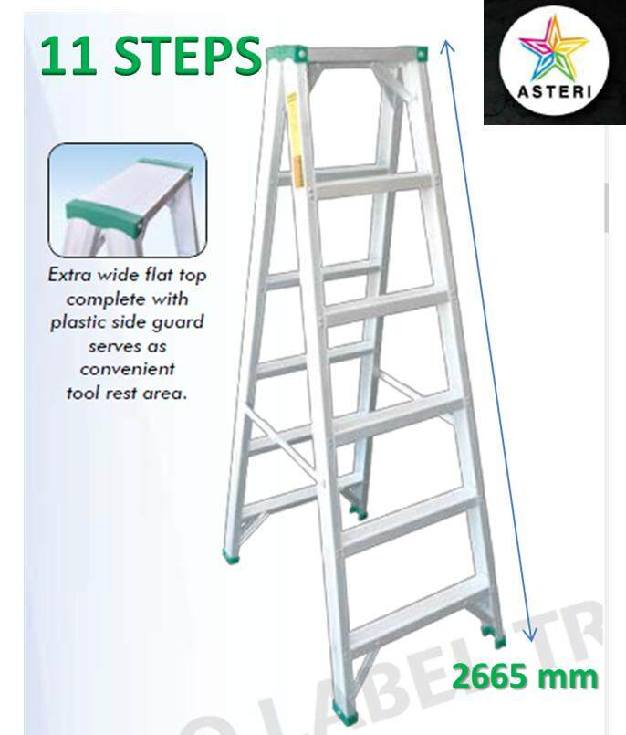11 Steps Aluminium Double Sided Ladder SDS-11