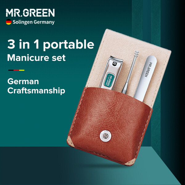 Buy Germany MR.GREEN Manicure Pedicure Set Nail Clippers Set Stainless Steel Grooming Kit with Travel Case Gift Box Singapore