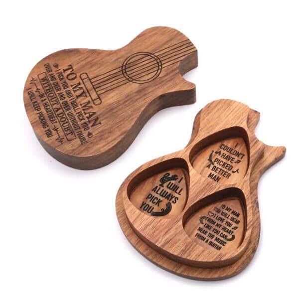 Guitar Pick Phù Hợp Với Ốp Gảy Đàn Guitar Bằng Gỗ Nguyên Miếng Tinh Tế Guitar Picks Nhạc Cụ Bass Điện Guitar Phụ Kiện
