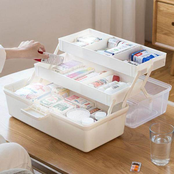 Multi Layer Home Large Camping Durable Medicine Storage Travel Makeup Portable Emergency First Aid Box