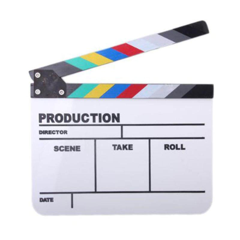 LEDMOMO English Version Clapper Board Slate Clap-stick for TV / Film / Movie (Multicolor)