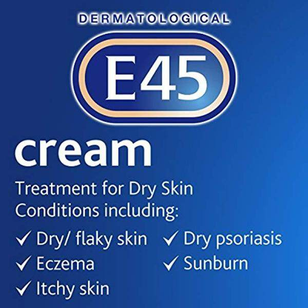 Buy E45 Dermatological Cream Treatment for Dry Skin Conditions (350g) Singapore