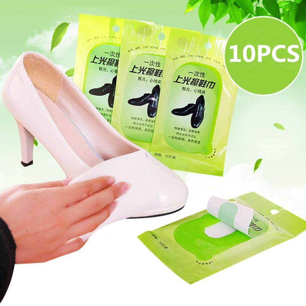 Paytonshop-Cleaning Polishing Shoe Cleaning Towel Leather Care Disposable Wet Wipes 10PCS