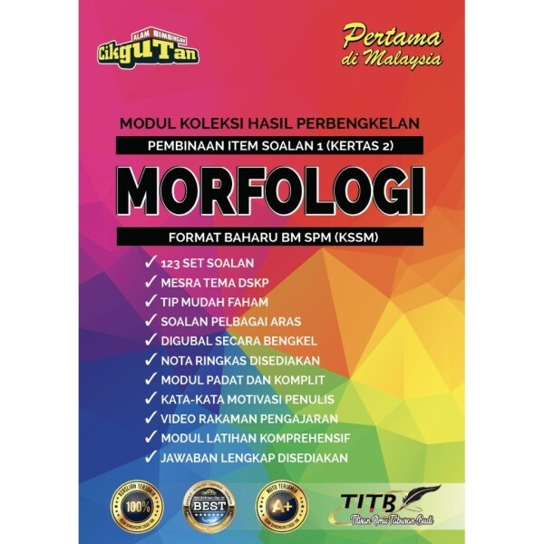 MODUL MORFOLOGI BM SPM (FORMAT TERBAHARU) KSSM Malaysia